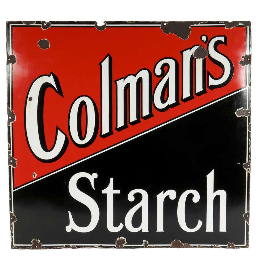 Original enamel advertising sign for Colman's Starch