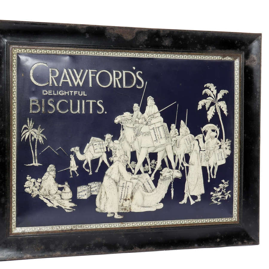 Original Crawford's tin sign