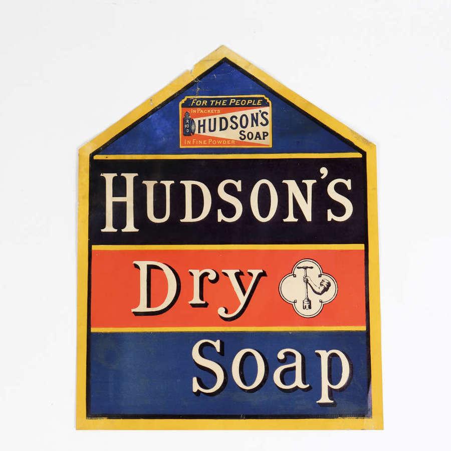 Original shop display advertising poster for Hudson's Soap