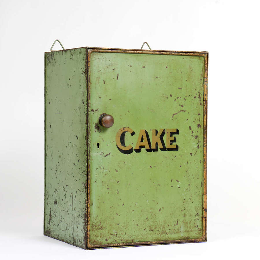 Early 20th century toleware cake cupboard