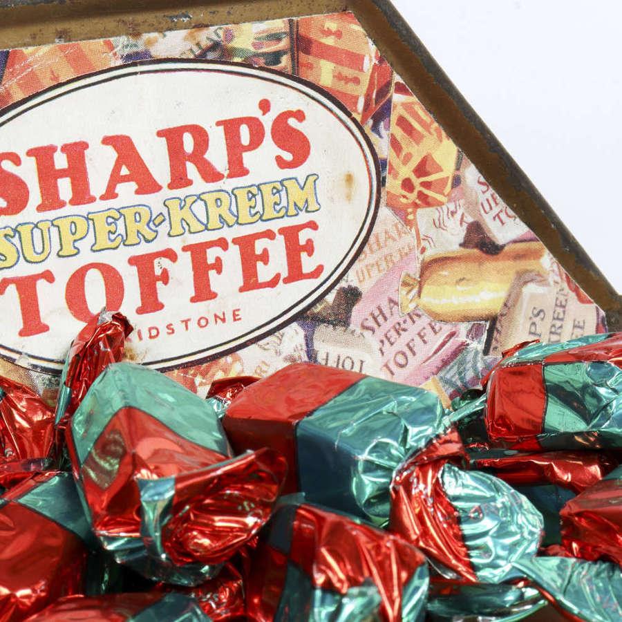 Original vintage shop display for Sharp's Toffee