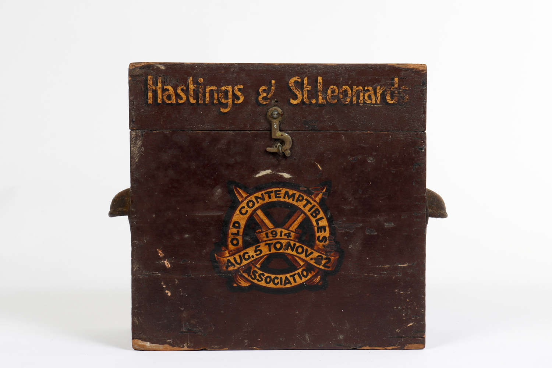 Old Contemptibles Association donation collection box.