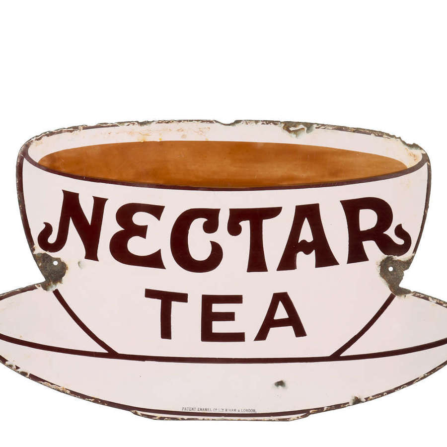Original enamel advertising sign for Nectar Tea