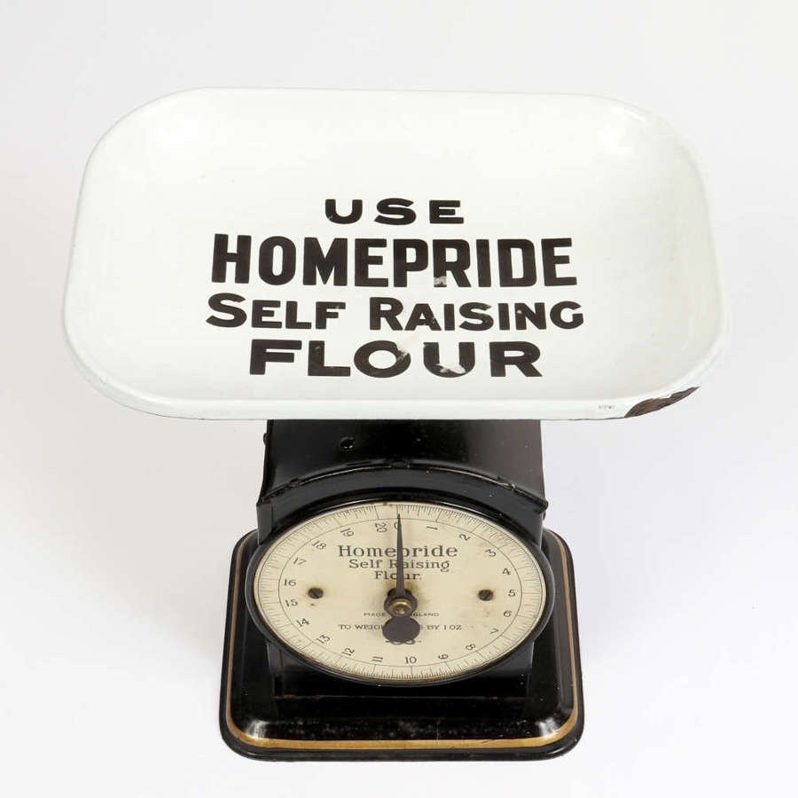 Early 20th century Salter scales advertising Homepride Flour