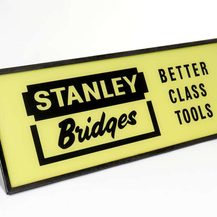 Original vintage Stanley Bridges advertising lightbox