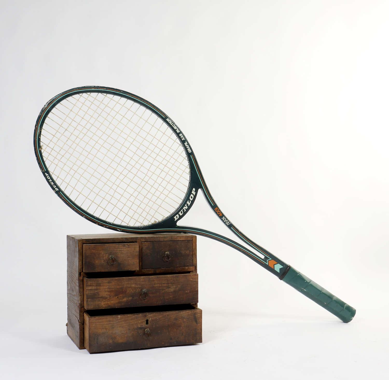 Giant oversized shop display tennis racket