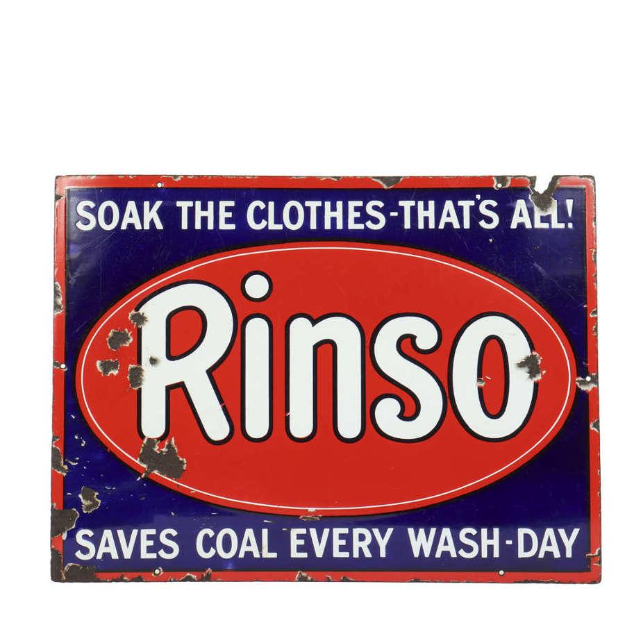 Original vintage enamel advertising sign for Rinso