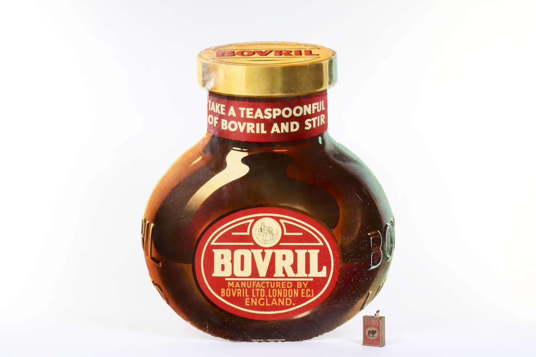 Original vintage advertising showcard for Bovril