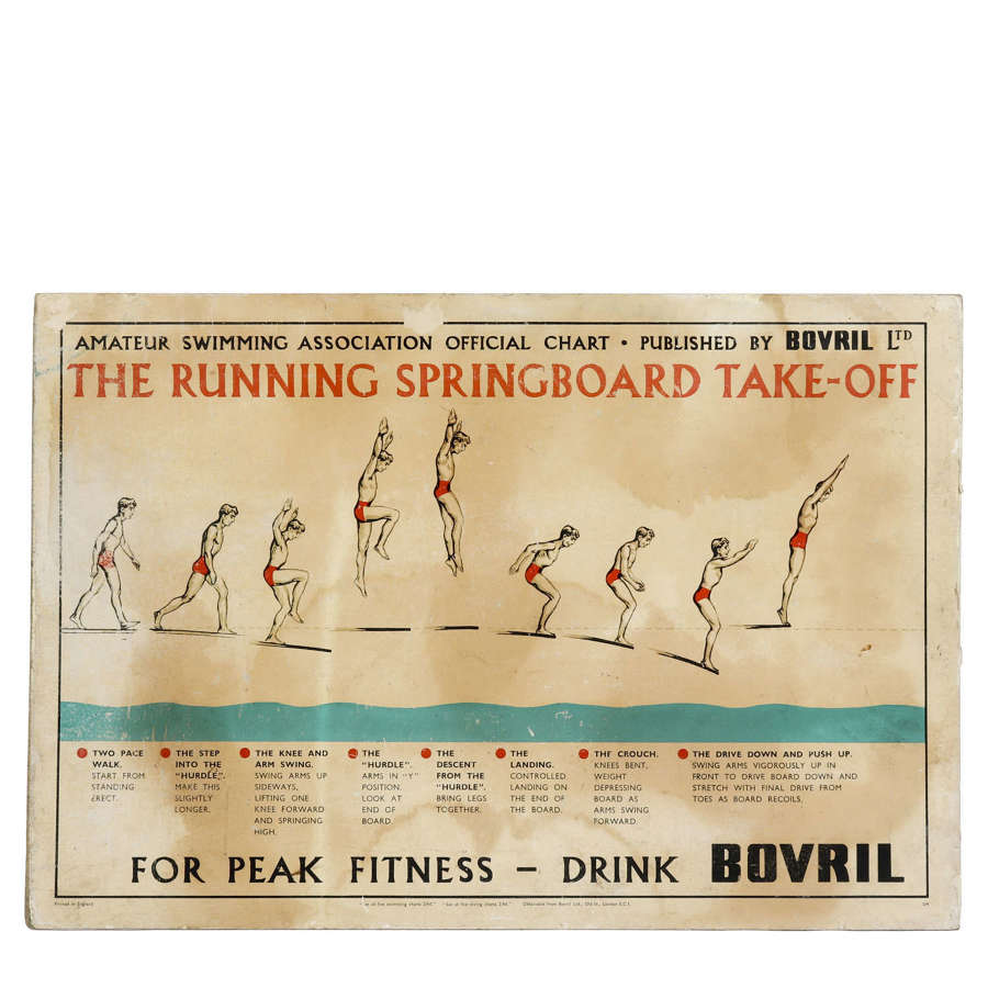 Original vintage Bovril advertising sign