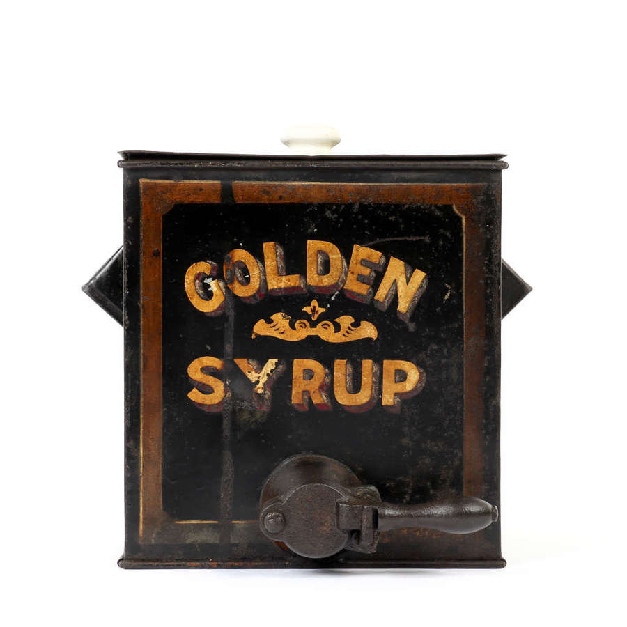 Early 20th century toleware golden syrup dispenser