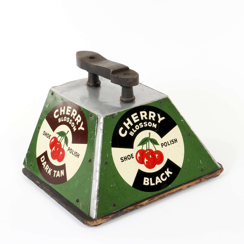 Vintage Cherry Blossom Polish shoe shine stand